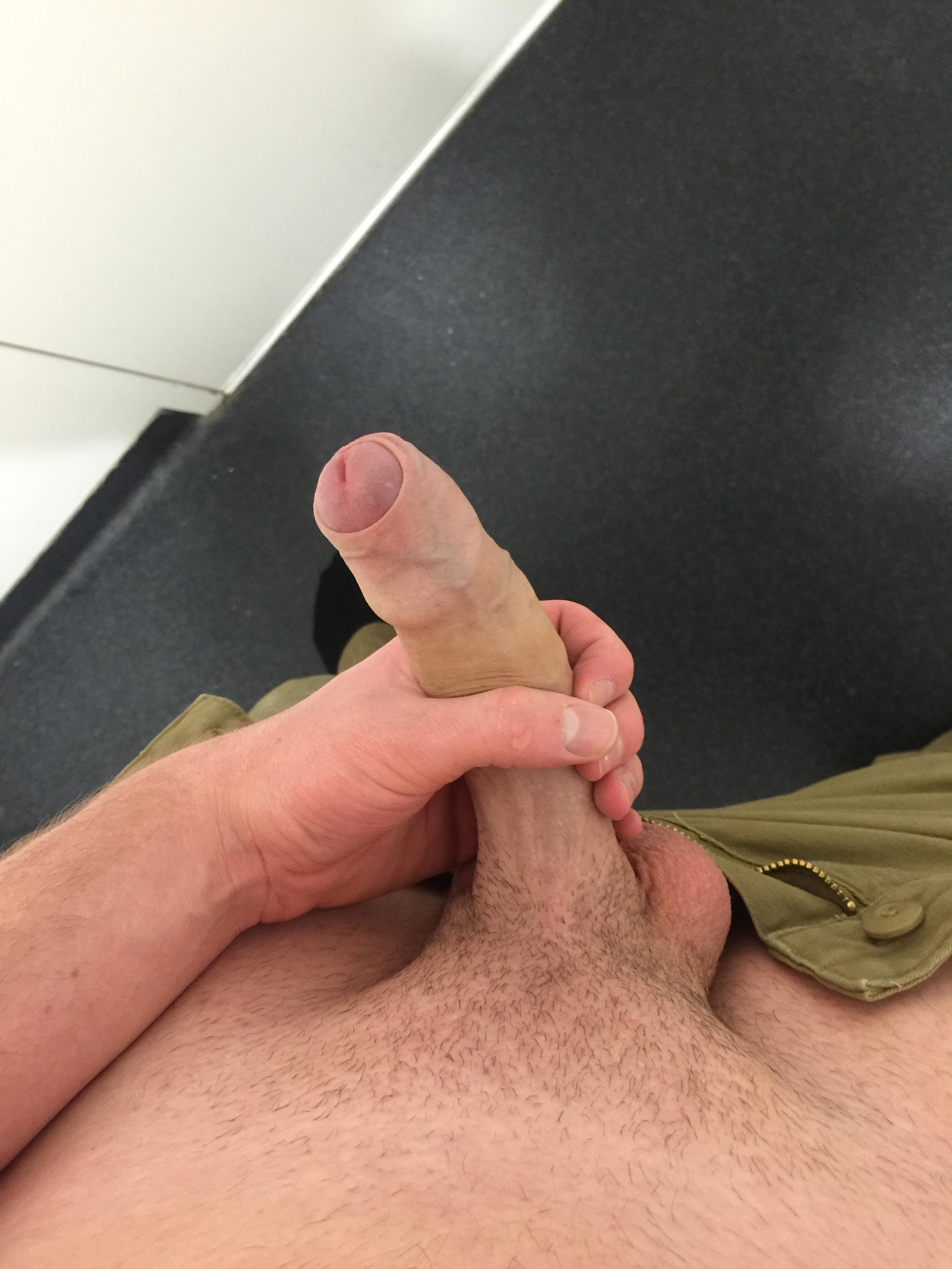 At work jerking off