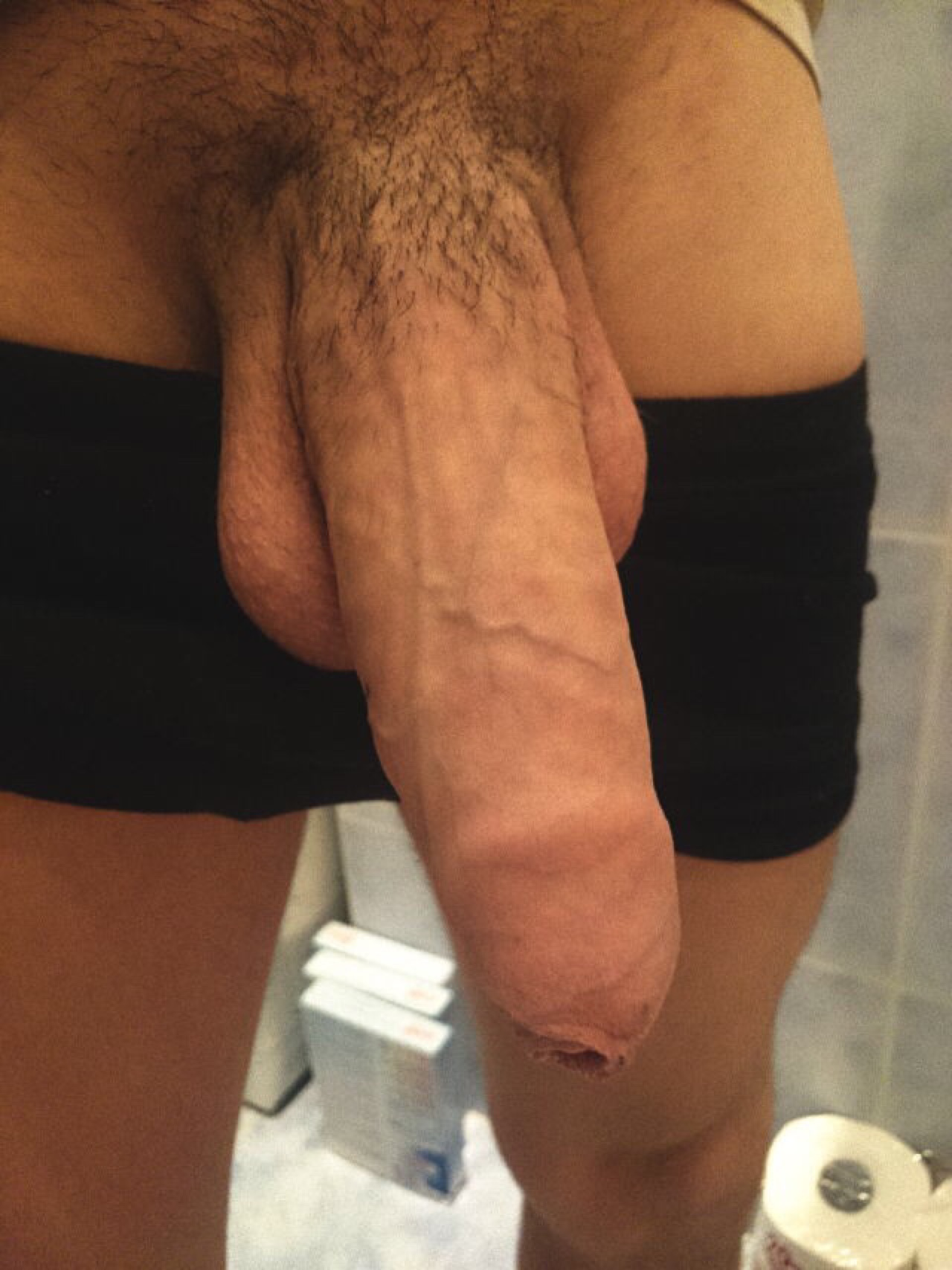 Huge thick and long uncut cock