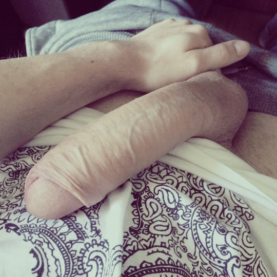 Very thick uncut cock