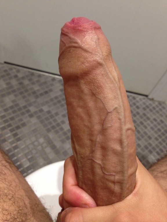 Really hard uncut cock
