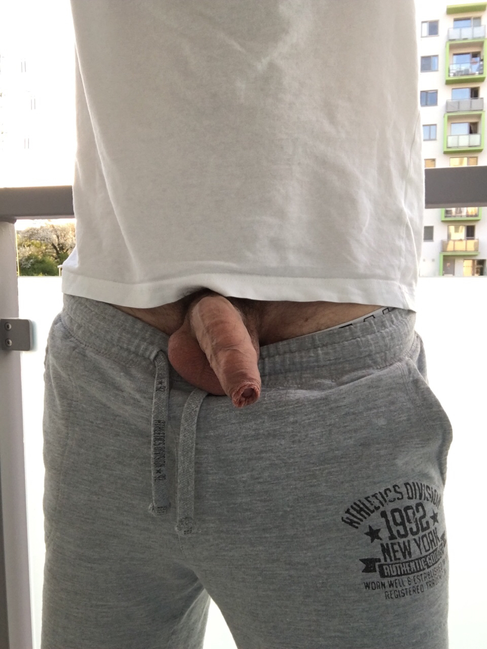 Ultra hot uncut cock outdoor
