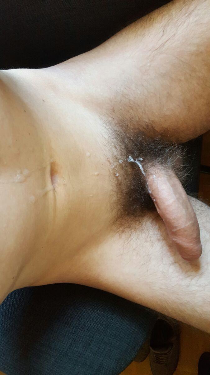 Uncut cock after cum