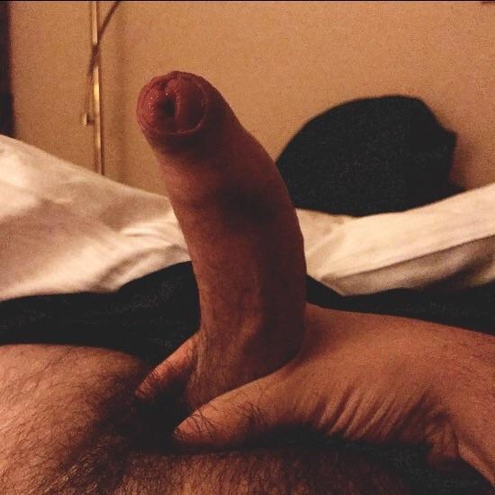 Juicy hairy uncut cock