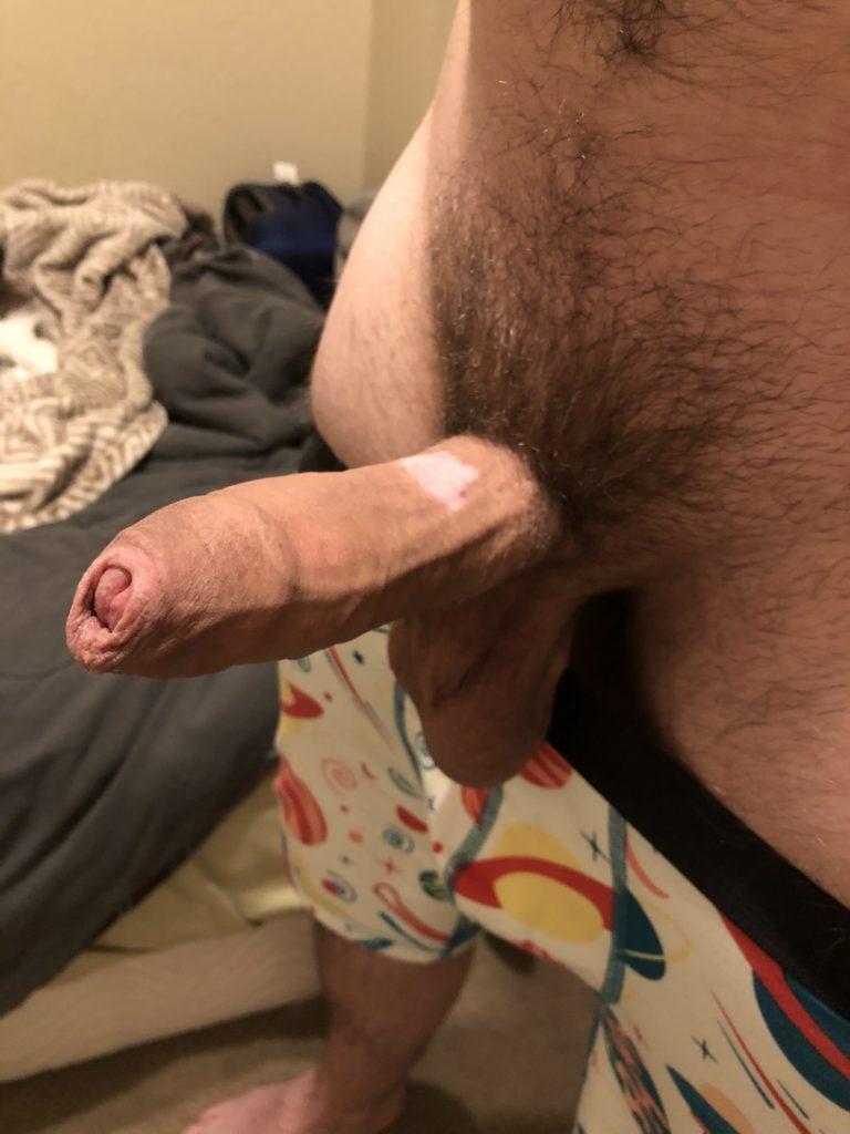 Spanish amateur sandro sanchez jerking his big thick uncut cock