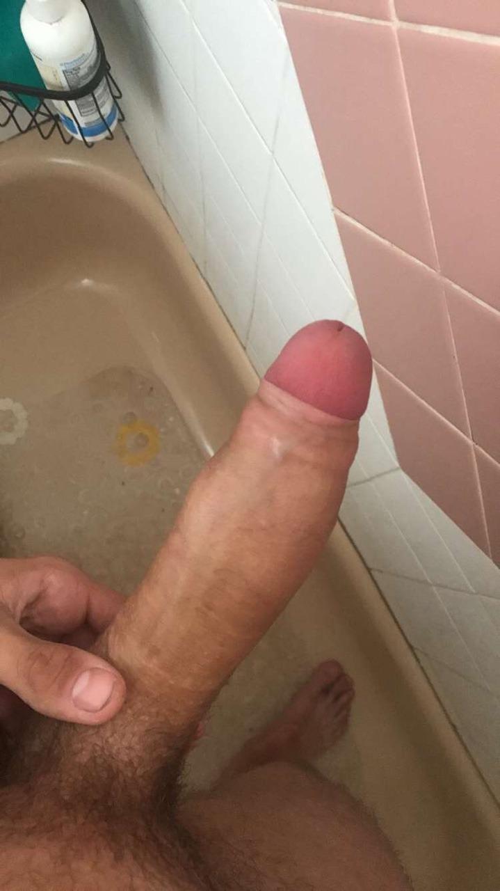 Shower huge cock