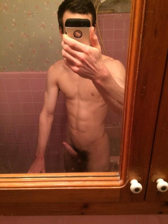 Hot straight naked selfie