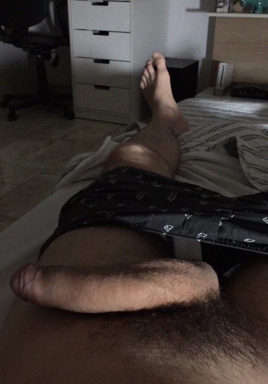 Straight cock and feet