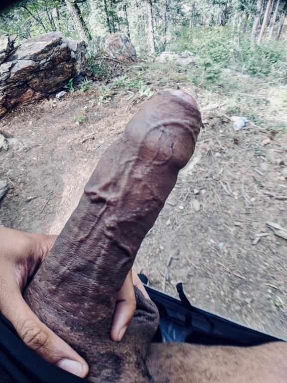 Veiny penis outdoor