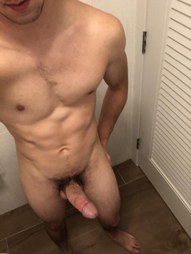With the cock erect in the testers