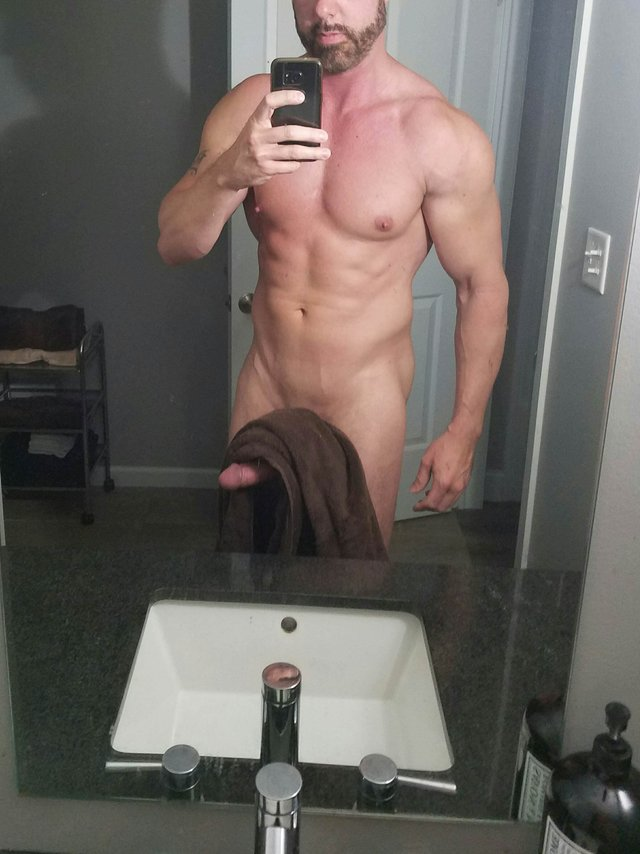 My erection is so hard to hold the towel