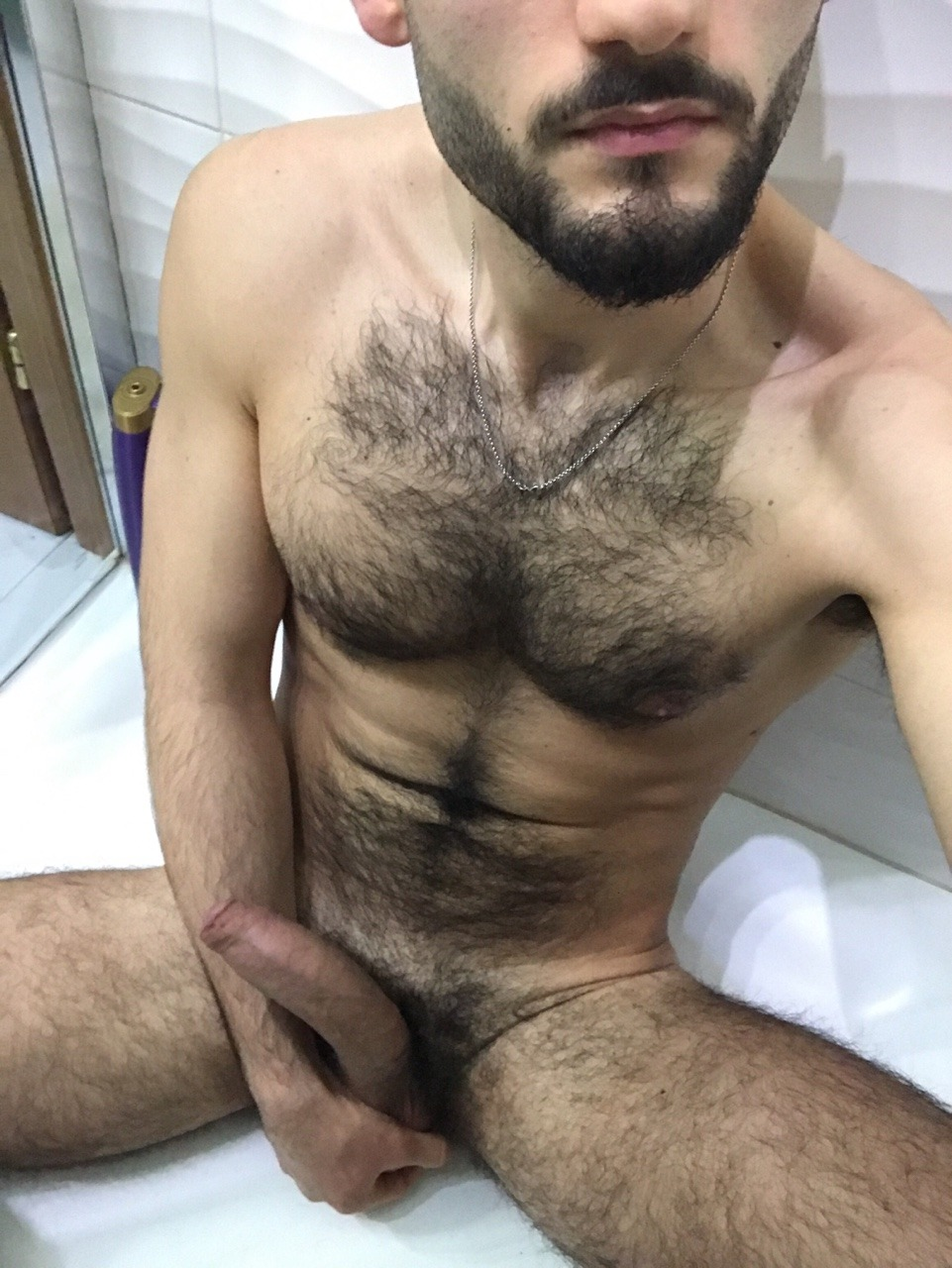 I need help to lower my erection in the bathroom