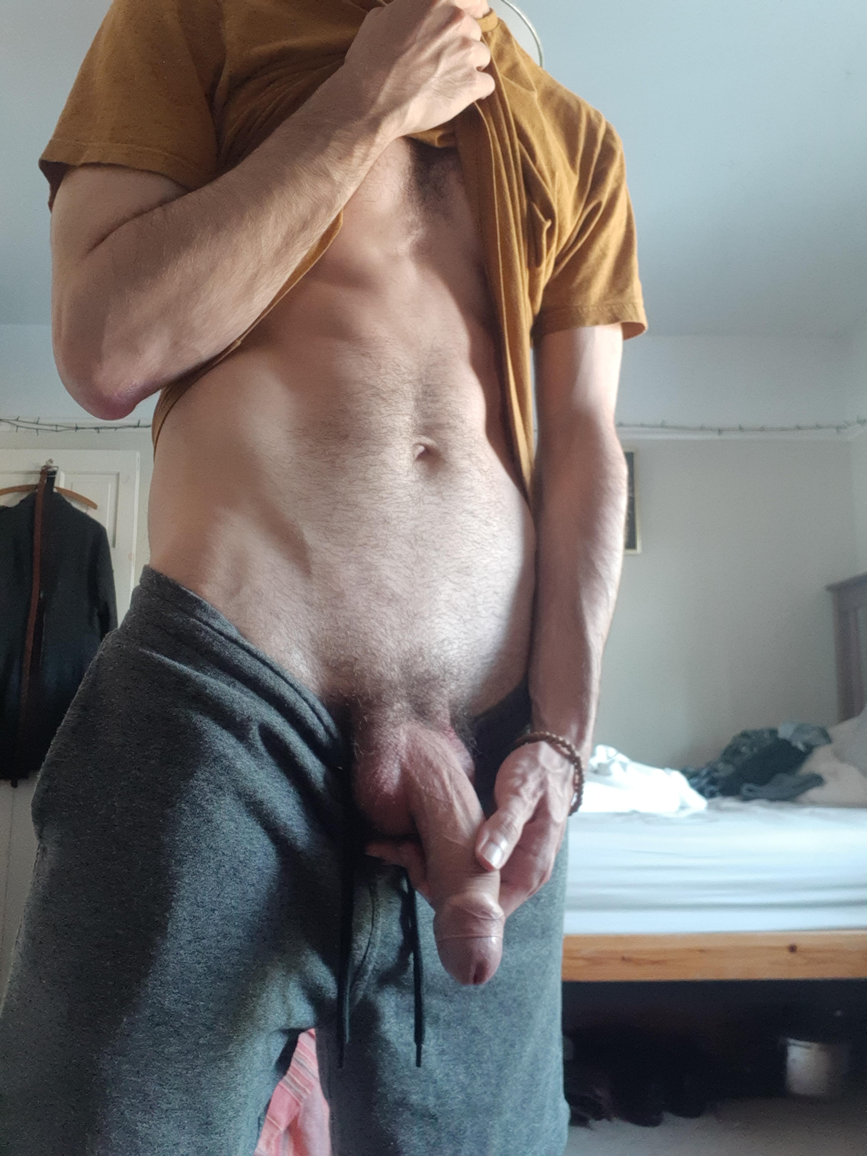 Nice fit body and uncut cock