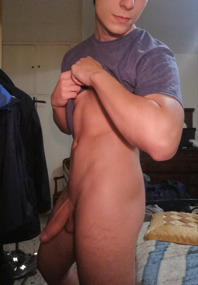 Hot uncut thick cock