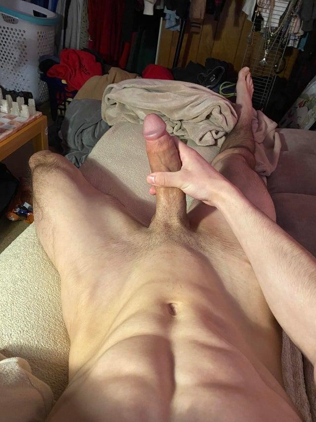 Straight mens feet